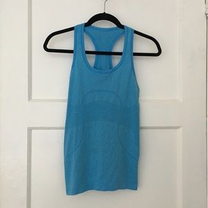 Lululemon Swiftly Tech Blue workout yoga tank top